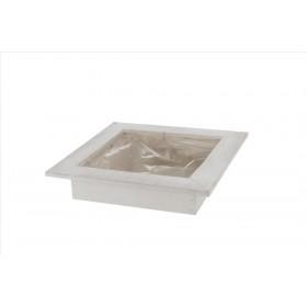 BASE MADERA 28x28x6cm w/pl White wash