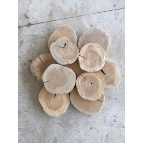 BASE DISCOS TECA 20x20x2cm Natural