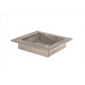 BASE MADERA 28x28x6cm w/pl Natural-wash