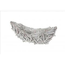 BARCO TRONQUITOS 40x14x10cm Blanco desgastado