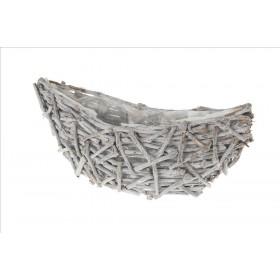 BARCO TRONQUITOS 50x18x21cm Blanco desgastado