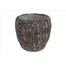 CEMENT DECO POT 22x22x21.5cm Antique Grey
