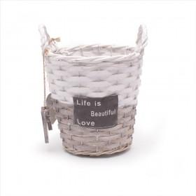 BASE VIMET BEAUTIFUL LIVE D16,5 H16cm gris/blanc
