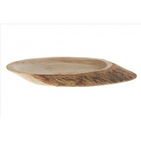 BASE OVAL MADERA 31x15x5cm Natur